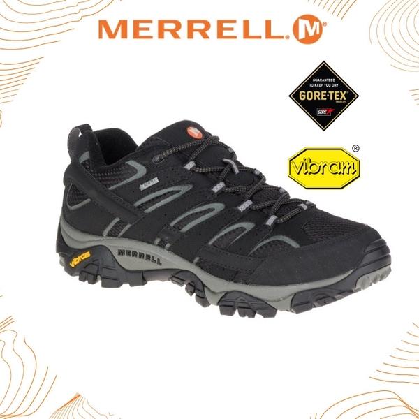 【MERRELL 美國 男 MOAB 2 GORE-TEX登山健行鞋《黑色》】ML06037/登山鞋/防水