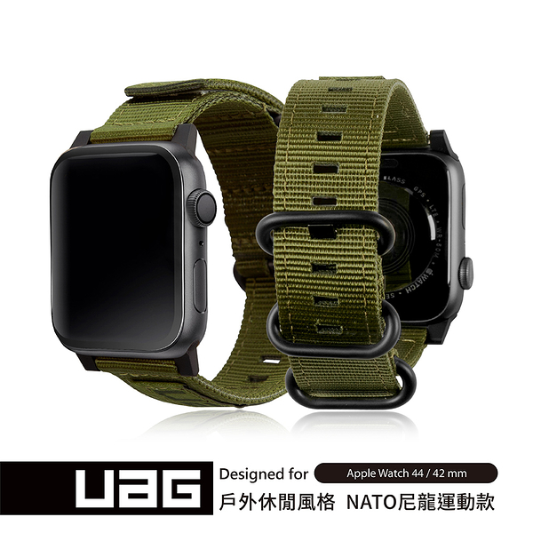 UAG Apple Watch 42/44mm Nato錶帶-綠