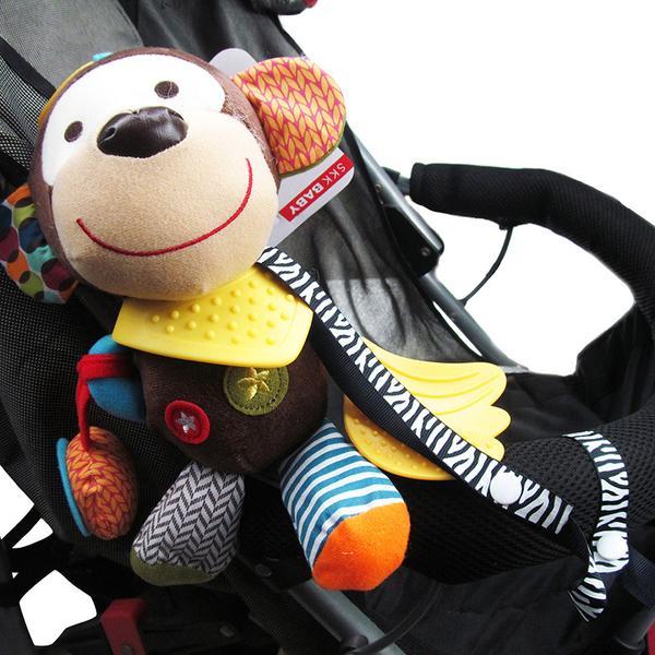 【TwinS伯澄】《玩具防掉帶》卡通印花嬰兒安撫奶嘴鏈玩具鏈防掉鍊