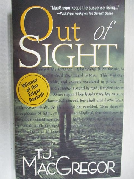 【書寶二手書T5/原文小說_AHP】Out of Sight_T.J.MacGregor