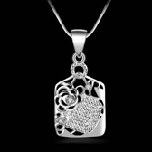 925純銀項鍊-獨特精緻歐美時尚玫瑰造型生日情人節禮物女墜飾73ad75【巴黎精品】