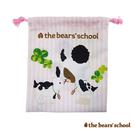 【日本進口正版】小熊學校 粉紅款 束口袋 收納袋 抽繩束口袋 The Bears' School - 430740