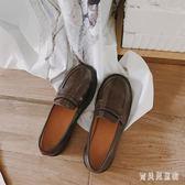 一腳蹬樂福鞋 英倫學院風小皮鞋百搭秋冬學生單鞋豆豆鞋女 BF22311『寶貝兒童裝』