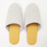 日系印花包口拖鞋-素色淺黃26