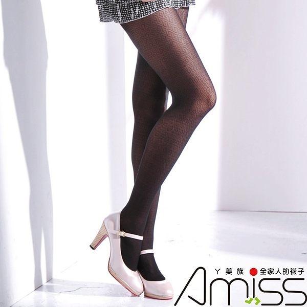 Amiss-襪子團購網♥【A133-65】流行花紋褲襪-ㄖ
