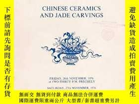 二手書博民逛書店Chinese罕見Ceramics and Jade Carvi