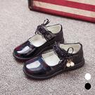 蕾絲女童皮鞋 公主鞋 學生鞋 娃娃鞋 大童 橘魔法 兒童 童鞋 禮服 深色皮鞋 畢業典禮 表演