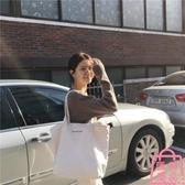 包包白色大容量帆布包女文藝韓國手提購物袋【匯美優品】