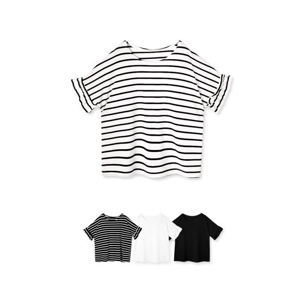 MIUSTAR 正韓‧甜美荷葉袖寬版圓領彈力棉質上衣(共4色)【NF0057RE】預購