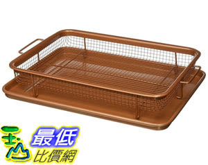 [8美國直購] 託盤 Gotham Steel Nonstick Copper Crisper Tray - AIR FRY IN YOUR OVEN B01NAFY0W9 Medium