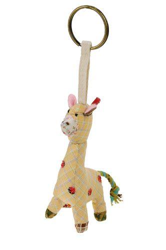 長頸鹿拼布鑰匙圈 10cm【Les Petites Marie】