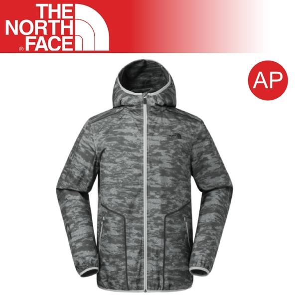 【The North Face 男  防風外套《灰印花迷彩》】3RF9/運動/休閒/戶外/旅行/風衣