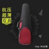 超輕便攜小提琴盒子高檔抗壓三角琴包4/43/41/21/4雙肩背帶0.97kg FF4277【Pink 中大尺碼】
