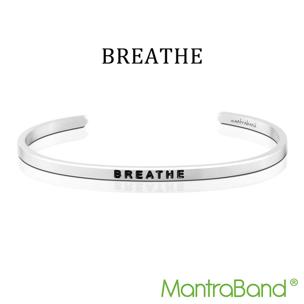 Mantraband | BREATHE 喘息 - 悄悄話銀色手環 台灣官方總代理
