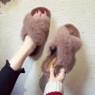 毛毛拖鞋女網紅2019韓版新款冬外穿家用鞋子時秋冬季孕婦冬天棉拖 滿天星
