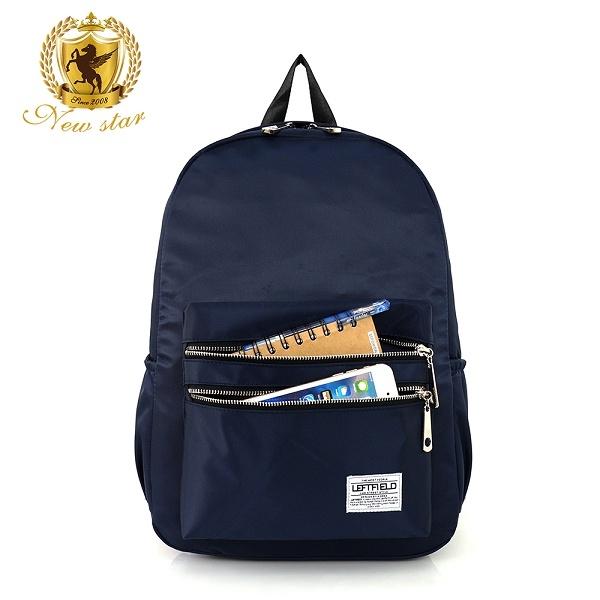 日系簡約防水撞色拉鍊口袋後背包包 NEW STAR BK242