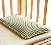 嬰兒蕎麥枕頭防偏頭定型苧麻夏季透氣吸汗兒童枕寶寶0-3歲 美芭