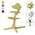 丹麥 Nomi 多階段成長椅-熱銷寶寶餐椅組(橡木-5色可選)