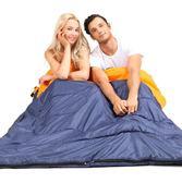 睡袋 探險者雙人睡袋成人戶外旅行秋冬四季保暖室內露營加寬加厚棉睡袋【雙11八折搶先購】