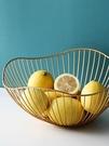 水果盤 鐵藝網紅水果籃 北歐風格客廳茶幾果盤家用現代風創意零食收納籃【快速出貨八折下殺】