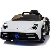 全館免運八折促銷-寶寶嬰兒玩具車遙控車可坐男女兒童四輪電動車帶手推搖擺充電汽車 萬聖節