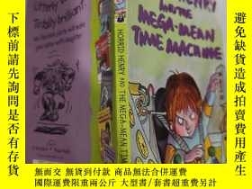 二手書博民逛書店horrid罕見henry and the maga mean time machine 可怕的亨利和maga平均
