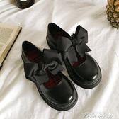 娃娃鞋 日繫軟妹洛麗塔lolita可愛公主鞋女圓頭學生蝴蝶結娃娃鞋單鞋  聖誕節下殺