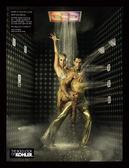 【麗室衛浴】美國KOHLER 埋壁式 平面型立體按摩淋浴塔 K-8002組合套裝組