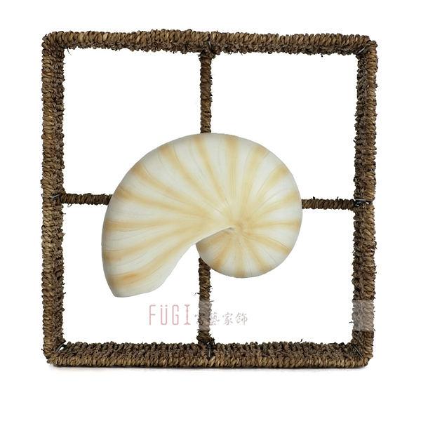 【富藝家飾】鸚鵡螺壁掛飾品 傢飾品 餐廳裝飾品 居家裝飾品 牆壁裝飾品