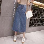 S-5XL~牛仔半身裙~3836牛仔裙~半身裙~女學生韓版大碼女裝200斤胖mm顯瘦NE286衣人有約