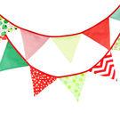 [韓風童品] 生日派對裝飾 三角旗掛飾 拍攝道具背景裝飾掛旗  星星格子花花圖案棉布三角旗
