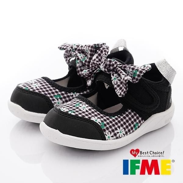 日本IFME健康機能童鞋透氣排水學步鞋-IF22-010503黑(中小童)零碼
