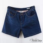 Victoria  加大天絲棉配線短褲-女-深藍-VK552078