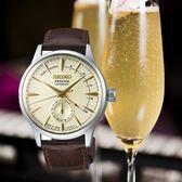 【台南 時代鐘錶 SEIKO】精工 Presage 調酒師系列機械錶 SSA387J1@4R57-00E0Y 皮帶 香檳金 40mm