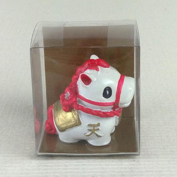 日本發掘名人 祈願天馬開運擺飾 透明盒裝(共4款)幸福-紅色