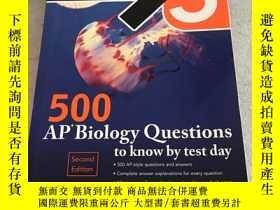 二手書博民逛書店500罕見AP Biology Questions to know by test day 2nd edition