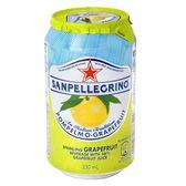 義大利 S.Pellegrino 聖沛黎洛氣泡水果水 葡萄柚口味 330ml