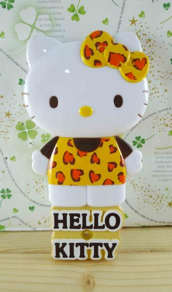 【震撼精品百貨】Hello Kitty 凱蒂貓-KITTY鏡梳組-米豹紋-站立