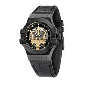 MASERATI 瑪莎拉蒂 經典鏤空機械腕錶42mm(R8821108027)
