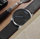 MVMT / D-MM01-BSL / 日期視窗 礦石強化玻璃 真皮手錶 黑色 45mm