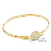 茱麗葉精品【全新現貨 優惠價】MARC JACOBS M0008542 圓盤LOGO造型手環.金/白