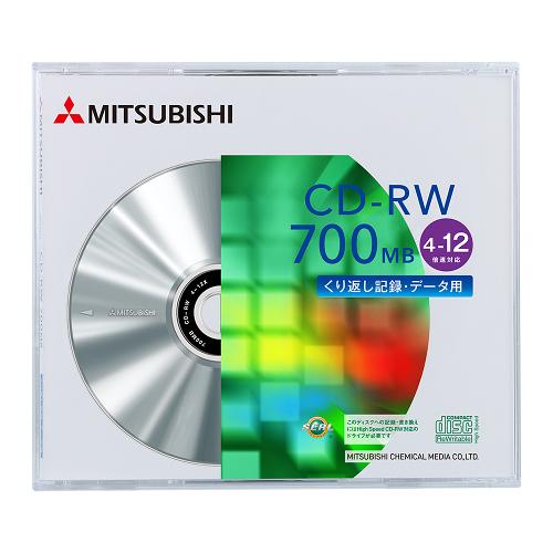 ◆免運費◆三菱 空白光碟片 SERL CD-RW 4X-12X 700MB 光碟燒錄片 (單片盒裝) x 10PCS