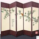 屏風隔斷折屏時尚客廳簡約現代中式折疊移動客廳臥室玄關布藝實木