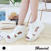 涼鞋 綁帶鏤空厚底涼鞋 MA女鞋 T5131