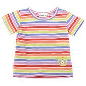 【愛的世界】純棉繽紛橫紋短袖T恤/1~3歲-台灣製- ★春夏上著