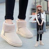 雪靴 雪地靴女2018冬季新款加絨保暖棉鞋百搭學生街拍風防滑短筒女靴子
