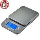 金時代書香咖啡 Tiamo KS-900專業計時電子秤 2kg 藍光 灰色 HK0513GY-1