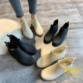 時尚雨鞋女短筒雨靴保暖加絨水鞋低幫水靴防滑洗車買菜廚房鞋【輕奢時代】