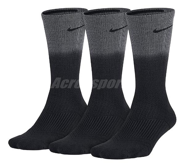 【三雙一組】Nike 襪子 Performance Cotton Cushioned 黑 灰 長襪 運動襪 女款【ACS】SX5484-021