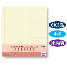 珠友 PH-06111 6K3孔4x6內頁(米)/6本入
